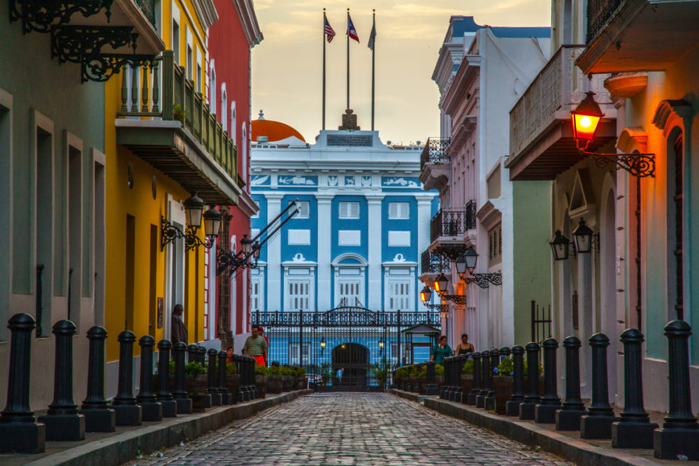 Calle Foraleza in Old San Juan