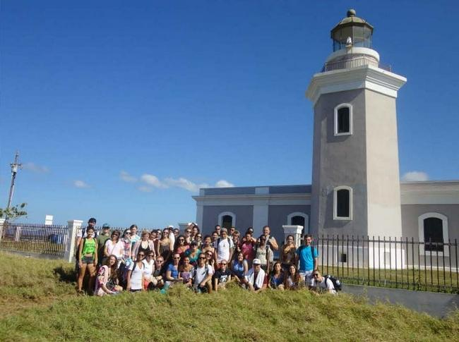 Group at Cabo Rojo in Puerto Rico