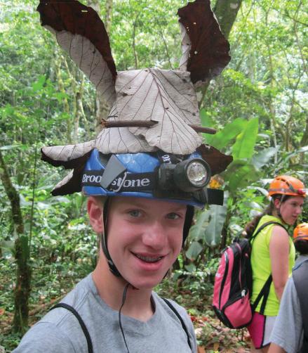 Student in El Yunque rain forest in Puerto Rico